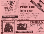John Cale Handbill