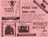 John Cale Handbill