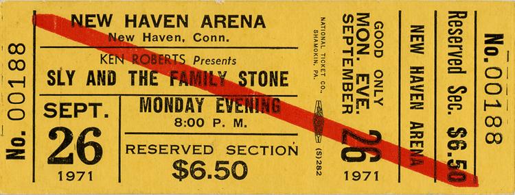Sly & the Family Stone1970s Ticket