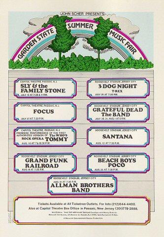The Allman Brothers Band Postcard