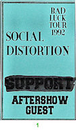 Social Distortion Laminate