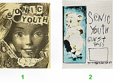 Sonic Youth Backstage Pass