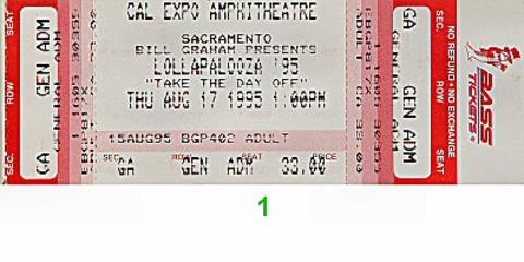 Sonic Youth Vintage Ticket