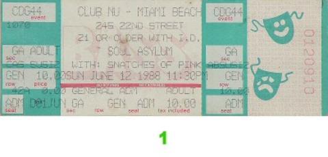 Soul Asylum Vintage Ticket