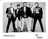 Spandau Ballet Promo Print