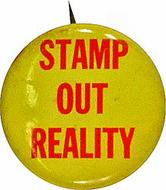 Stamp Out Reality Vintage Pin