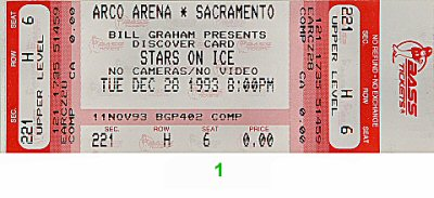 Stars on Ice 1990s Ticket