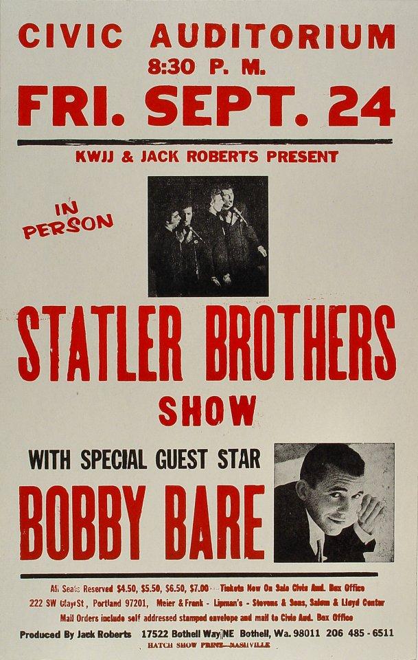 Statler BrothersPoster