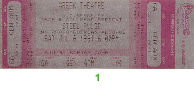 Steel Pulse1990s Ticket