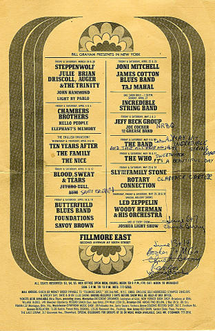 James Cotton Blues Band Handbill