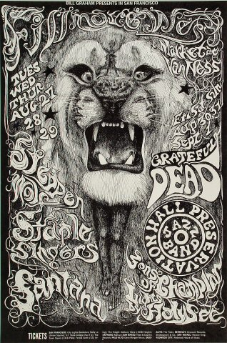Steppenwolf Poster Fillmore West San Francisco Ca Aug