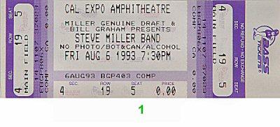 Steve Miller Band1990s Ticket