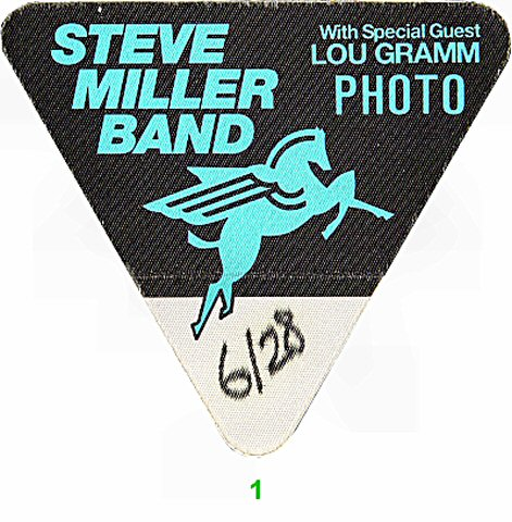 Steve Miller Band Backstage Pass