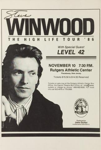 Steve Winwood Poster
