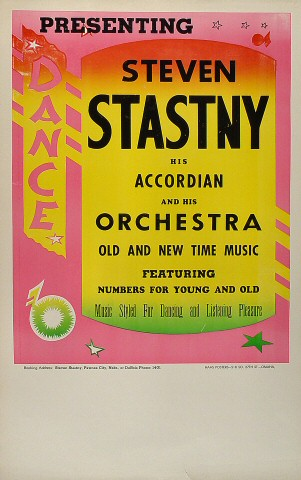Steven Stastny and His Orchestra Poster