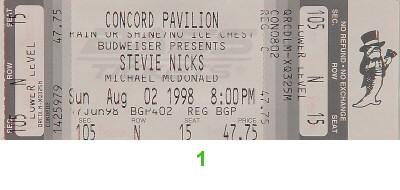 Stevie Nicks1990s Ticket