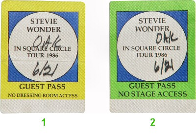 Stevie Wonder Backstage Pass