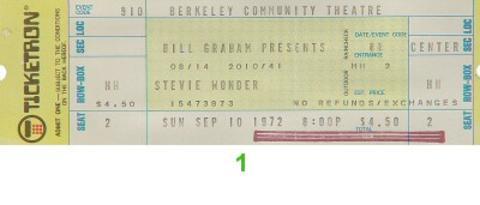 Stevie Wonder Vintage Ticket