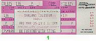 Sting 1980s Ticket