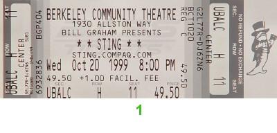 Sting1990s Ticket