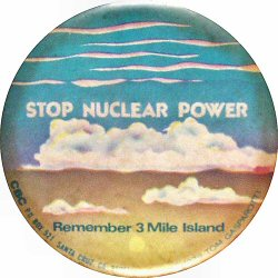 Stop Nuclear Power Vintage Pin