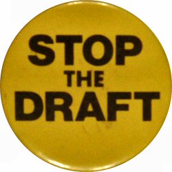 Stop The Draft Vintage Pin