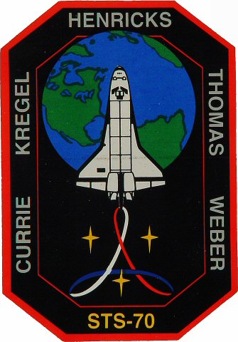 STS-70 Crew Patch Sticker