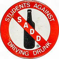 Students Against Driving Drunk Vintage Pin