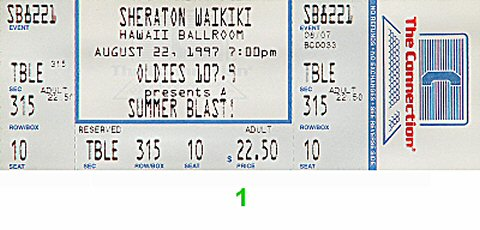 Summer Blast 1990s Ticket