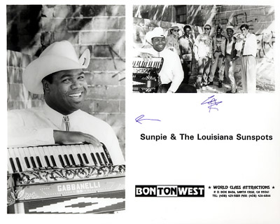 Sunpie & The Louisiana Sunspots Promo Print