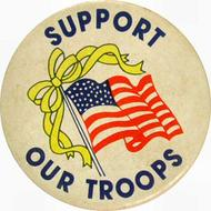 Support Our Troops Vintage Pin