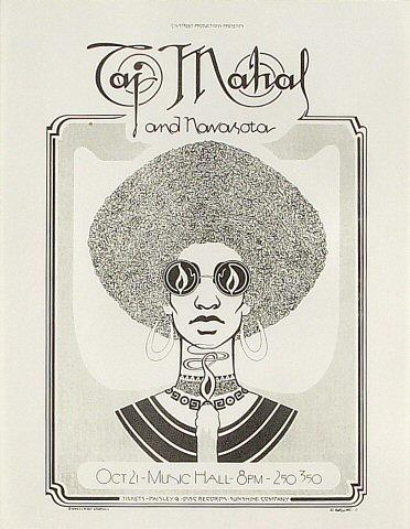 Taj Mahal Handbill
