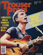 David Byrne Trouser Press Magazine