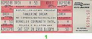 Tangerine Dream 1980s Ticket