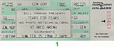 Tears for Fears 1990s Ticket