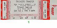Teenage Fanclub 1990s Ticket