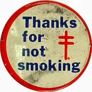 Thanks For Not Smoking Pin