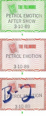 That Petrol Emotion Backstage Pass