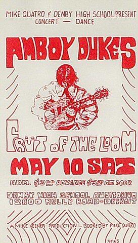 The Amboy Dukes Handbill
