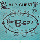 The B-52's Backstage Pass