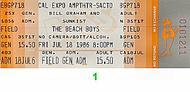 The Beach Boys 1980s Ticket