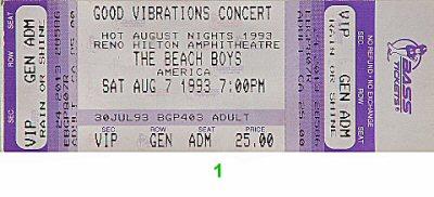 The Beach Boys1990s Ticket