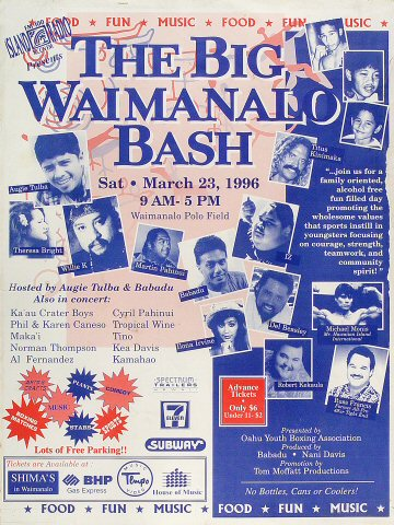 The Big Waimanalo Bash Poster