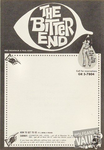 The Bitter End Handbill