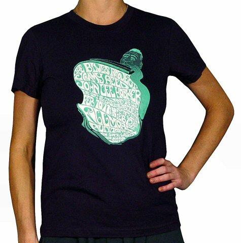 John Lee Hooker Women's Retro T-Shirt