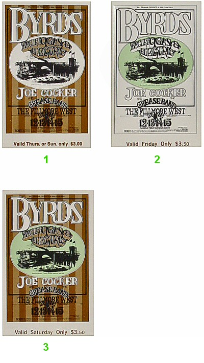 The Byrds 1960s Ticket