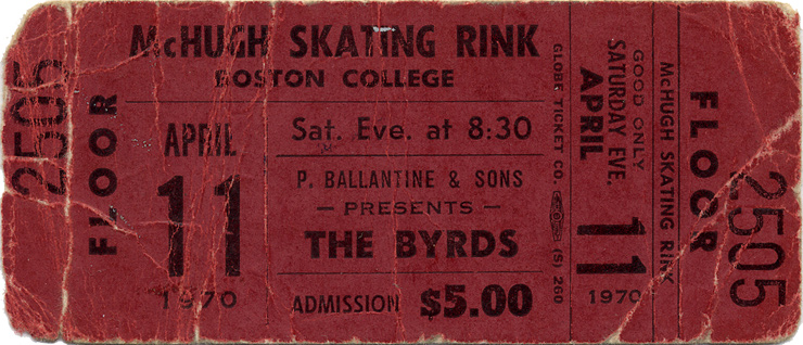 The Byrds1970s Ticket