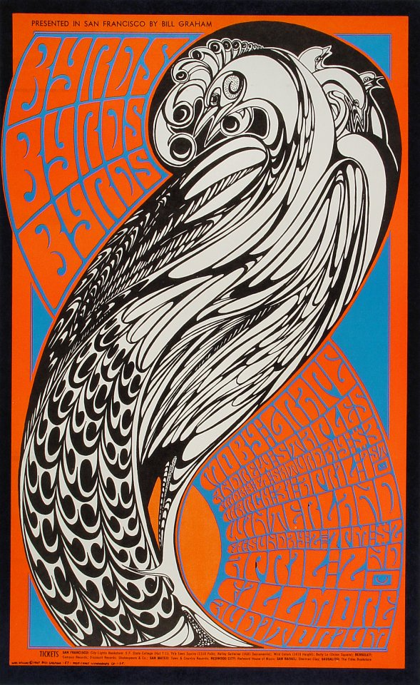 The Byrds Poster Winterland San Francisco Ca Apr 1 1967