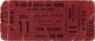 The Byrds Vintage Ticket