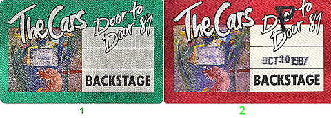 The Cars Backstage Pass